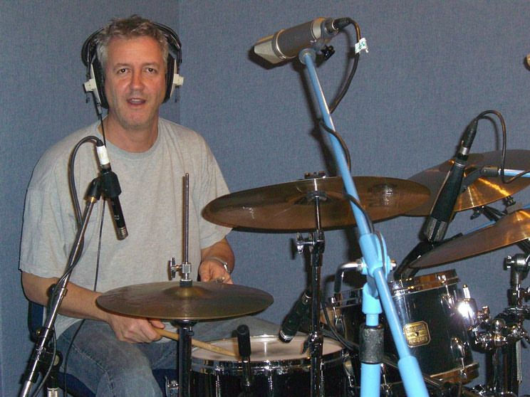 Nic France in the studio recording 'My Crescent City'