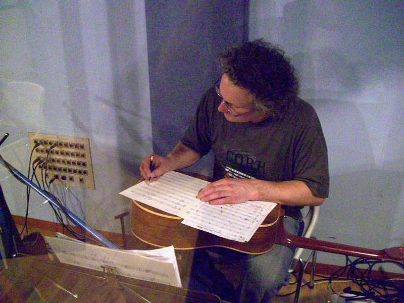 Rob King in the studio